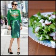 tasteful fashion: green salad