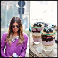 tasteful fashion: blueberry parfait