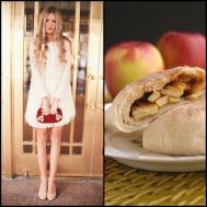 tasteful fashion: caramel apple calzones