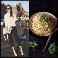 tasteful fashion: spaghetti olio e aglio
