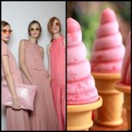 tasteful fashion: strawberry frozen yogurt