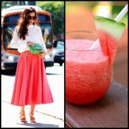 tasteful fashion: watermelon slushie
