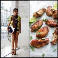 tasteful fashion: lemongrass bbq wings