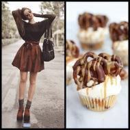 tasteful fashion: peanut butter cupcake
