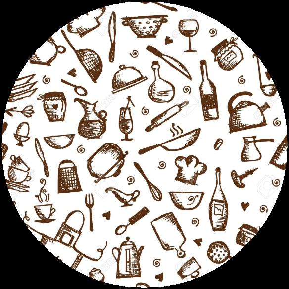 14946677-Kitchen-utensils-sketch-seamless-pattern-Stock-Vector-food-seamless-background