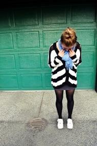 sneakers & skirt